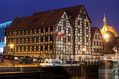 Bydgoszcz Granaries by Night in Poland Stock Images