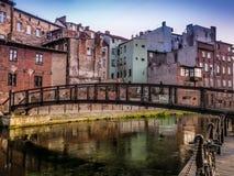 Bydgoszcz kanal royaltyfria bilder