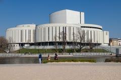 Bydgoszcz, kujawsko-pomorskie/Polen - April, 4, 2019: Operngebäude in Mitteleuropa Moderne Architektur öffentlichen Einrichtungen stockfoto