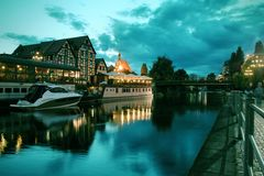 Bydgoszcz night Royalty Free Stock Photography
