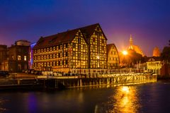 Bydgoszcz at Night Stock Image
