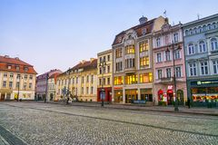BYDGOSZCZ, POLEN, 2017 11 14, Markt in Bydgoszcz, stadhuis mooie oude stad Bydgoszcz Royalty-vrije Stock Afbeeldingen
