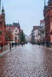 BYDGOSZCZ, POLEN, 2017 11 14, Markt in Bydgoszcz, stadhuis mooie oude stad Bydgoszcz Stock Foto's