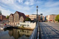 Bydgoszcz Skyline with Granaries in Poland Stock Image