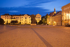 Bydgoszcz Town Hall in Old Town at Night Royalty Free Stock Photos
