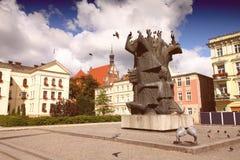 Bydgoszcz town square Royalty Free Stock Photo