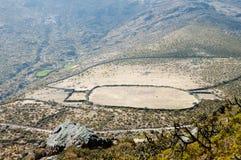 Bydlę klauzura w Andes fotografia royalty free