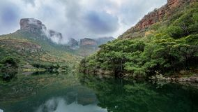 Bydle flodkanjon, Sydafrika arkivfoto