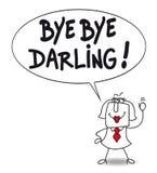 Bye bye darling. Karen says Bye bye darling because she divorced Royalty Free Stock Image
