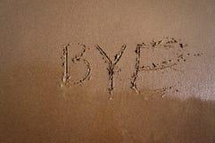 Bye - byesommar Royaltyfri Fotografi