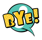 Bye! speech bubble in retro style. Vector illustration isolated on white background Royalty Free Stock Images
