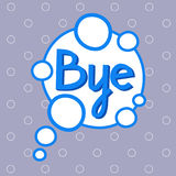 Bye Sticker, Chat Message Label Icon Colorful Banner. Vector Illustration Royalty Free Stock Photo