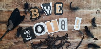 Bye 2018 Year - farewell to the old year royalty free stock photo