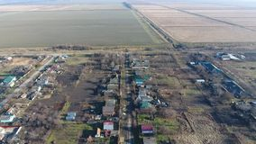 ByElitnyy Krasnoarmeyskiy område, Krasnodar Krai, Ryssland Flyga på en höjd av 100 meter Fördärva och glömskan Arkivbild