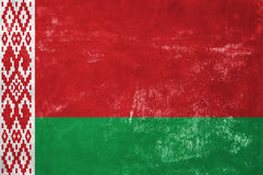 Byelorussian Flag. Belarus - Byelorussian Flag on Old Grunge Texture Background royalty free stock photos