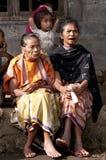 Byfolk Flores Indonesien Arkivbilder