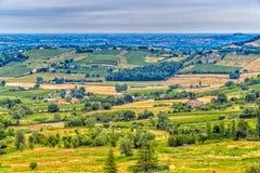 Bygd av Romagna i Italien royaltyfria bilder