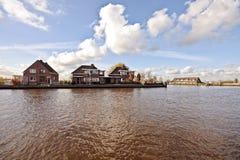 bygd houses Nederländerna Royaltyfria Bilder