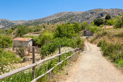 Bygd. Kreta Grekland Arkivbilder