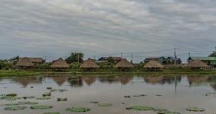 Bygd nära den Siem Reap staden arkivbild
