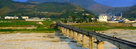 Bygd Nordkorea Royaltyfri Fotografi