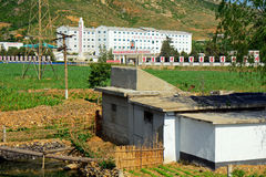 Bygd Nordkorea Arkivbild