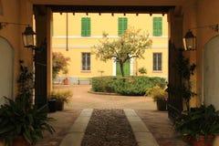 Bygden i Cremona, Italien Villa Medici del Vascello arkivfoto