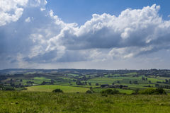Bygdlandskap Lacock England Förenade kungariket Fotografering för Bildbyråer