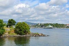 Bygdoy est péninsule de côté Ouest de centre de la ville d'Oslo Images stock