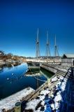 Bygdoynesveien. Quiet wharf near Bygdoynesveien in Oslo Stock Photos