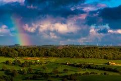 Bygdregnbåge Arkivbilder