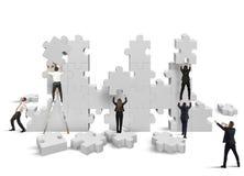 Bygg ett nytt företag Arkivbild