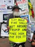 Bygg väggen! royaltyfri fotografi