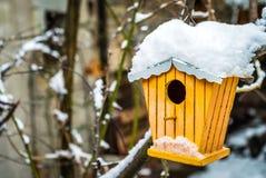 Bygga bo asken i snön Royaltyfri Foto