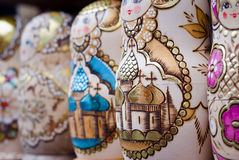 Bygga bodockor för ryss Arkivbilder