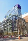 Bygga 463 Broadway New York som inhyser Wells Fargo Arkivfoton