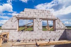 Bygga ett nytt egna hem Royaltyfri Fotografi