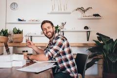 Bygga min affär hemifrån Arkivbilder