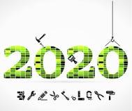 Byggande 2020 vektor illustrationer