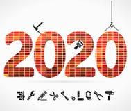 Byggande 2020 royaltyfri illustrationer