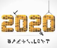 Byggande 2020 stock illustrationer