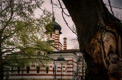 Byggande av Art Gallery i stad av Pleven, Bulgarien royaltyfria bilder