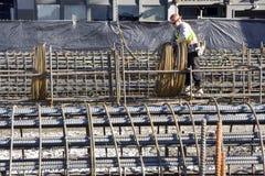 Byggande av den Seattle tunnelen Fotografering för Bildbyråer