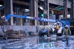 Byggande av den Seattle tunnelen Royaltyfria Bilder