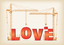 Byggande av en förälskelse stock illustrationer