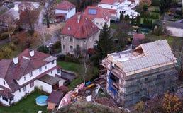 Byggande av ett hem Arkivbild