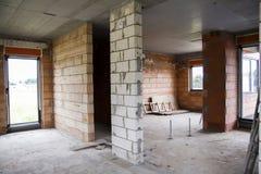 Byggande av ett hus Arkivbild