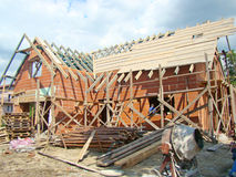 Byggande av ett nytt hus Royaltyfria Bilder