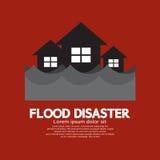 Byggande blötning under flodkatastrof royaltyfri illustrationer