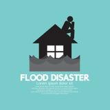 Byggande blötning under flodkatastrof Royaltyfri Bild